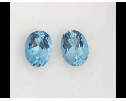 Pretty Pair of Quality Blue Topaz - Brazil