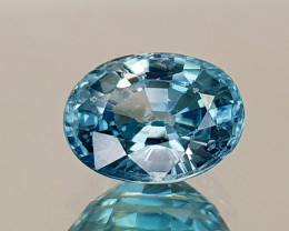 1.89Crt Blue Zircon Natural Gemstones JI21