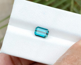 1.60 Ct Natural Blue Transparent Ring Size Tourmaline Gemstone