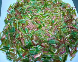 Bicolor Tourmalines , Watermelon Tourmaline Crystals Parcel from Paprock -