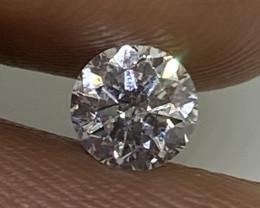(E) Certified $716 Precious 0.44cts SI2 Nat White Round Loose Diamond
