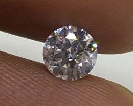 (F) Certified $773 Gorgeous  0.41cts SI1 Nat White Round Loose Diamond