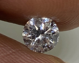 (G) Certified $848 Fiery 0.48cts SI1 Nat White Round Loose Diamond