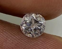 (H) Certified $392 Stunning 0.47cts I2 Nat  White Round Loose Diamond