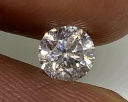 (J) Certified $848 Beautiful  0.48 cts SI1 Nat White Round Loose Diamond