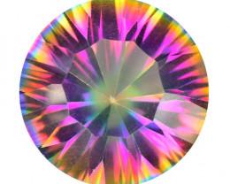 5.39 Cts Rare Fancy Multi Color Natural Mystic Topaz