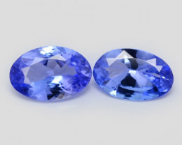 0.67 Cts 2pcs Amazing rare AA Violet Blue Color Natural Tanzanite Gemstone