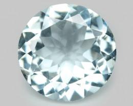 1.42 Cts Un Heated Blue Natural Aquamarine Loose Gemstone