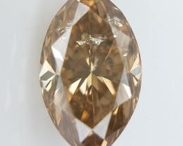 0.44 cts, Marquise Brilliant Cut , Brown Colored Diamond