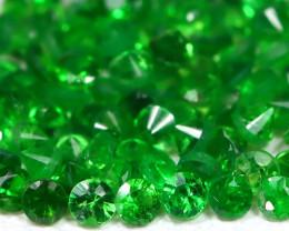 1.42Ct Calibrate 1.3mm 100Pcs Natural Green Color Tsavorite Garnet A1102