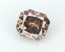 0.34 CT , Rare Pattern Diamond , Radiant Brilliant Cut