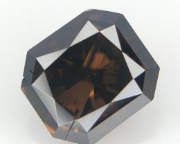 0.55 cts , Natural Dark Brown Diamond , Loose Radiant Diamond