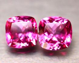 Pink Topaz 18.39Ct 2Pcs Natural IF Pink Topaz DR462/A35