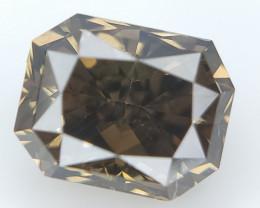 0.57 ct , Brownish Green Diamond , Radiant Brilliant Cut