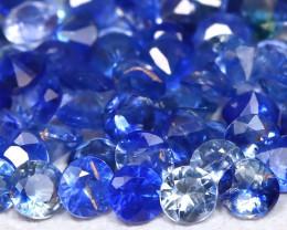 Sapphire 2.46Ct Calibrate 1.9mm 67Pcs Natural Blue Sapphire Lot A1112