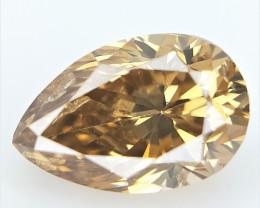 0.38 CT , Pear Brilliant Cut , Natural Colored Diamond