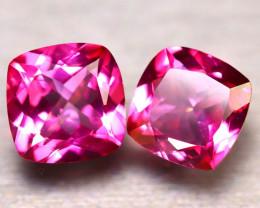 Pink Topaz 15.40Ct 2Pcs Natural IF Pink Topaz ER361/A35