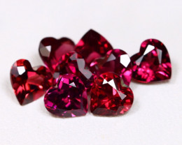 Mahenge Garnet 4.37Ct 8Pcs Heart Cut Natural Mahenge Garnet C1102