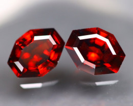 Spessartite Garnet 4.68Ct 2Pcs Fancy Cut Natural Spessartite Garnet C1111