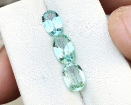 2.90 Ct Natural Sea Foam, Mint Green & Blue Transparent Tourmaline Gems