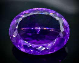 30.32 Crt Natural Amethyst Faceted Gemstone.( AB 40)