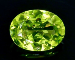 1.27 Crt Natural Peridot Faceted Gemstone.( AB 40)