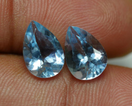 3.240 CRT 2 PCS PAIR BEAUTY CUT AQUAMARINE-