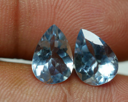 2.940 CRT 2 PCS PAIR BEAUTY CUT AQUAMARINE-