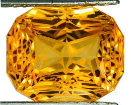 ~CUSTOM CUT~ 14.80 Cts Natural Golden Orange Citrine Fancy Cushion Brazil