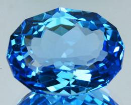 ~CUSTOM CUT~ 10.36 Cts Natural Swiss Blue Topaz Fancy Oval Cut USA