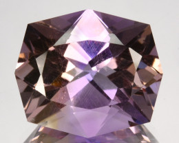 ~CUSTOM CUT~ 8.84 Cts Natural Bi-Color Ametrine Fancy Cushion Bolivia