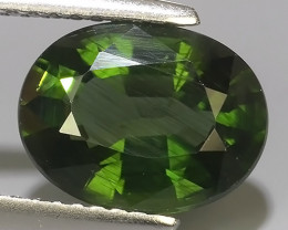 3.20 CTS GENUINE TOP GREEN COLOR APATITE OVAL GEM BRAZIL