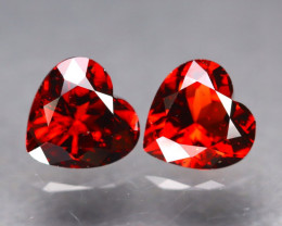 Spessartite 4.16Ct 2Pcs Heart Cut Natural Spessartite Garnet B376