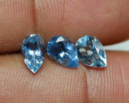 2.785 CRT 3 PCS PARCEL BEAUTY CUT AQUAMARINE-