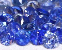 1.91Ct Calibrate 2.1mm Natural Vivid Blue Sapphire Round Lot B448