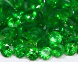 1.78Ct Calibrate 1.3mm Natural Green Color Tsavorite Garnet Lot B450