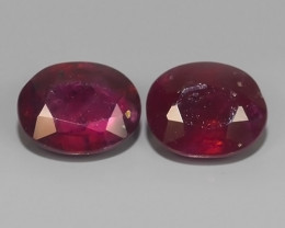 1.70 Cts Gorgeous!Jumbo!Oval Facet Top Blood Red Natural Ruby Madagascar!