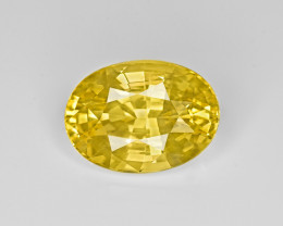 Yellow Sapphire, 5.24ct - Mined in Sri Lanka | Certified by GIA