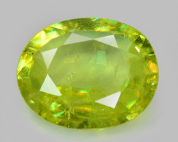 0.68 CT SPHENE WITH DRAMATIC FIRE AFGHANISTAN SH43
