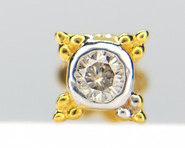 18kt Yellow Gold Nose stud , IGI Certified , Sparkling Diamond Nose piercin