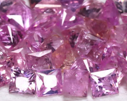 2.19Ct Princess 1.8mm Natural Untreated Pink Color Sapphire Lot B459