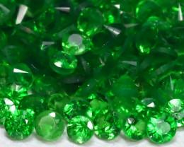 2.17Ct Calibrate 1.3mm Natural Green Color Tsavorite Garnet Lot B464