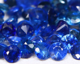 1.70Ct Calibrate 1.8mm Natural Vivid Blue Sapphire Round Lot B482