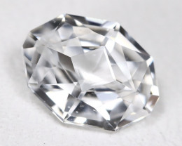 White Zircon 1.43Ct VVS Master Cut Natural Cambodian White Zircon AB487