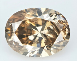 0.71 cts , Sparkling  Brown Natural Diamond , Diamond For Jewelry