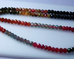 NR!!!! 52.20 CTs Natural - Unheated Multi Color Tourmaline Beads String