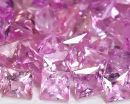 Pink Sapphire 2.25Ct Princess 1.8mm Natural Pink Color Sapphire B510