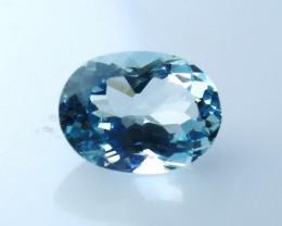 NR!!!! 1.30 CTs Natural - Unheated Blue Aquamarine Gemstone