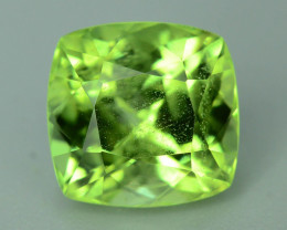 Exquisit Color 3.85 ct Peridot Ring Size