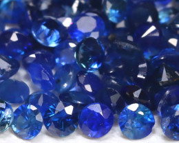 1.88Ct Calibrate 1.5mm Natural Vivid Blue Sapphire Round Lot B556
